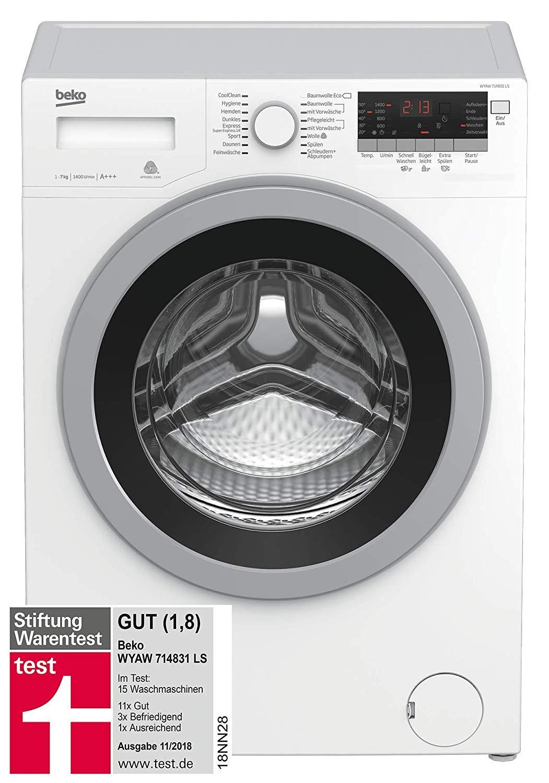 beko wyaw 714831 ls waschmaschine gut im test bei. Black Bedroom Furniture Sets. Home Design Ideas