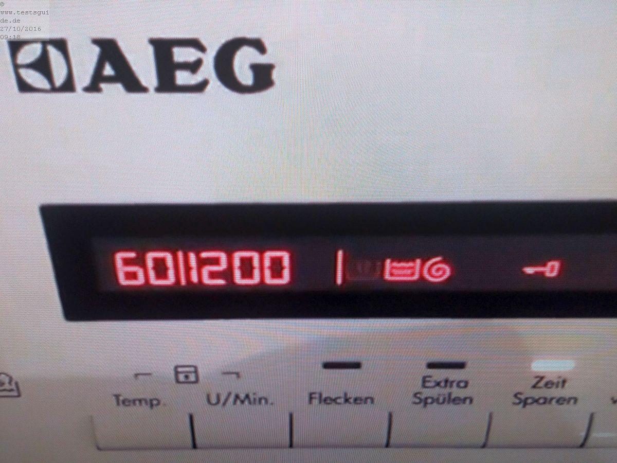 AEG Display mit Logo