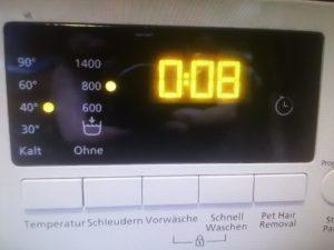 Display bei Beko Waschmaschinen