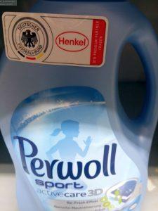 Spezialwaschmittel von Perwoll für Sportler